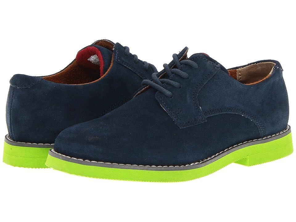 Florsheim Kids Kearny Jr. (Toddler/Little Kid/Big Kid) (Navy/Lime Sole) Boys Shoes