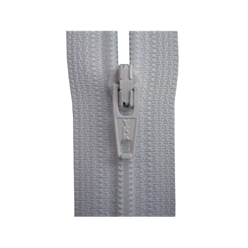 White YKK Lightweight Invisible Closed End Zip 8,9,10,12,14,16,18,20,22 Inch