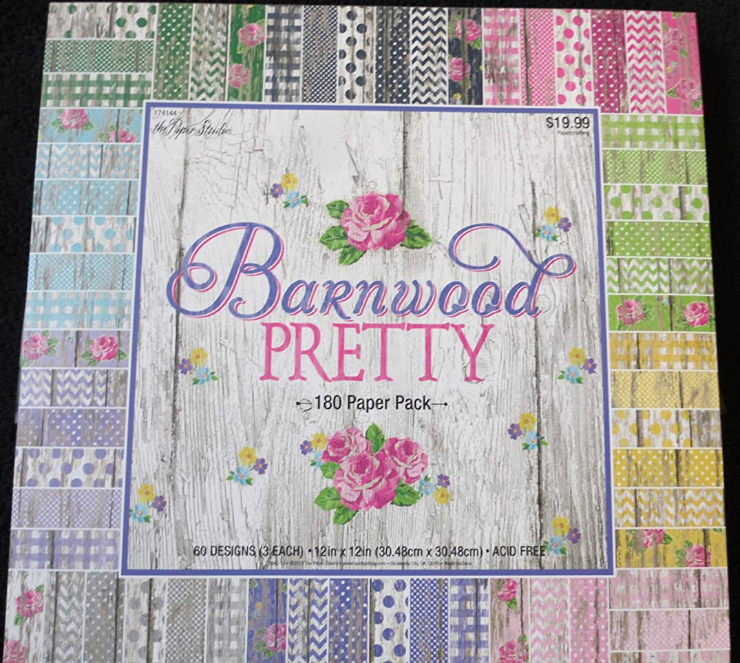 Barnwood Pretty 12``x12`` Scrapbook Paper Pack by The Paper Studio180 Pages supply:ljscraftsnthings