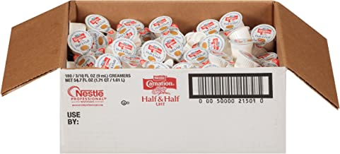Carnation Half and Half Liquid Creamer Singles, 180 Count