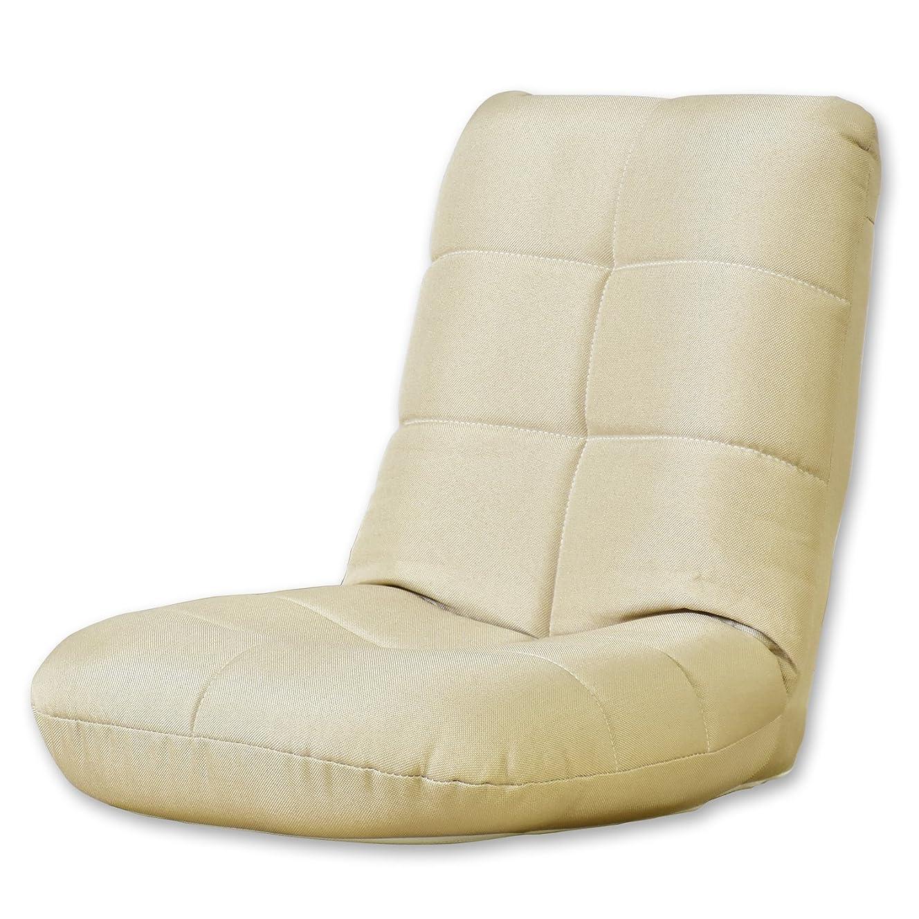 吹雪シャックルミントDORIS 座椅子 コンパクト 軽量 パックン座椅子 かわいい 子供 ベージュ ラッコミニ