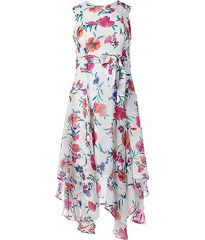 Calvin Klein Petite Sleeveless Midi Dress With Asymmetrical Hem