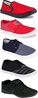 WORLD WEAR FOOTWEAR Sports Running Shoes/Casual/Sneakers/Loafers Shoes for Men Multicolor (Combo-(5)-1219-1221-1140-694-725)
