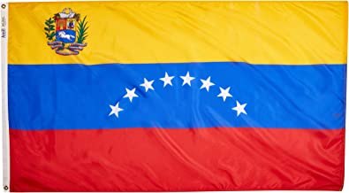 product image for Annin Flagmakers Model 199277 Venezuela Flag 3x5 ft. Nylon SolarGuard Nyl-Glo 100% Made in USA to Official United Nations Design Specifications.