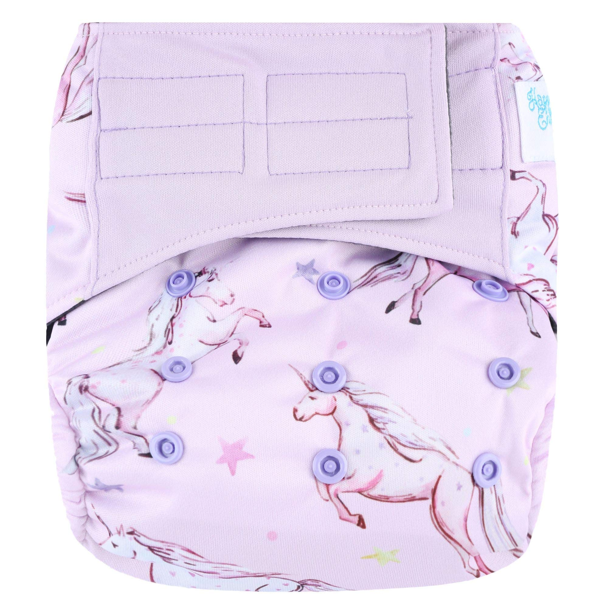 HappyEndings Contoured Diaper Pocket Unicorns