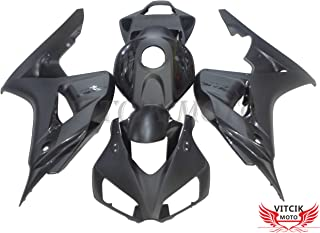 VITCIK (Fairing Kits Fit for Honda CBR1000RR 2006 2007 CBR1000 RR 06 07) Plastic ABS Injection Mold Complete Motorcycle Body Aftermarket Bodywork Frame (Black) A035