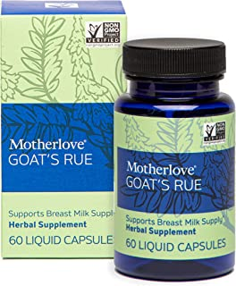 Motherlove Goat's Rue Vegan Capsules (60ct) Herbal Lactation Supplement to Enhance Mammary Tissue Development & Breast Mil...