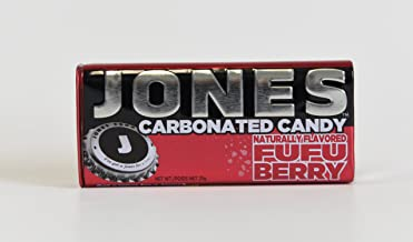 JONES Soda Carbonated Candy, Fufu Berry, Pack of 8