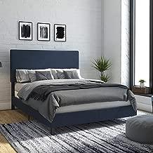 DHP Janford, Queen Size Frame, Navy Blue Linen Upholstered Beds,