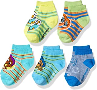 Boys' Little Bubble Guppies 5 Pack Shorty, assorted striped sherbet, Fits Sock Size 5-6.5; Fits Shoe Size 4-7.5
