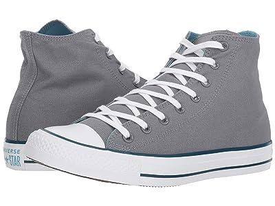 Converse Chuck Taylor(r) All Star(r) Seasonal Color Hi (Cool Grey/Shoreline Blue/Blue Fir) Lace up casual Shoes