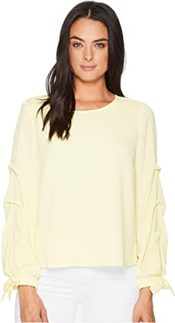 Vince Camuto - Long Sleeve Tiered Tie Cuff Textured Blouse
