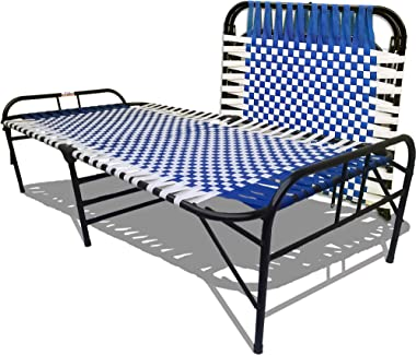 ARTEMIST Single Iron;Steel Bed Without Storage - ( blue)