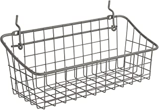 """Spectrum Diversified 11.25"""" x 4.25"""" x 4.5"""" Pegboard & Wall Mount Basket, Small Wire Basket for Slatwall & Pegboard, Home &..."""