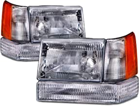 HEADLIGHTSDEPOT Compatible with Jeep Grand Cherokee OE Style Replacement 6 Piece Set New