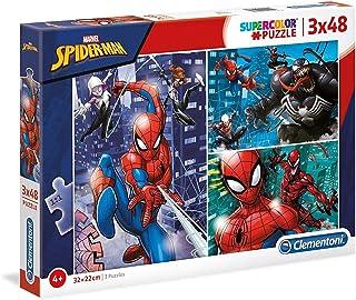 Clementoni- Marvel Clementoni-25238-Supercolor Collection-Spider-Man-3 x 48 pièces, 25238, Multicolore