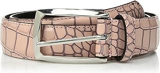 حزام جلدي للرجال من ستايسي آدمز، مقاس 34 مم، لون وردي ضبابي، 52