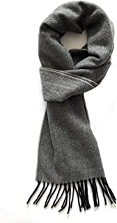 Runtlly Men's Winter Scarf Soft Classic Cashmere Feel Scarves Unisex 9-3 Gray