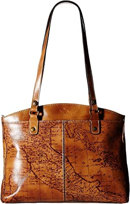 Patricia Nash - Signature Map Poppy Satchel