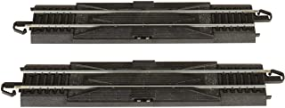 """Bachmann Trains - Snap-Fit E-Z TRACK 9"""" STRAIGHT RERAILER (2/card) - STEEL ALLOY Rail With Black Roadbed - HO Scale"""