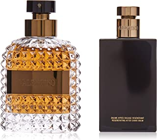 Valentino UOMO Eau De Toilette Spray and After Shave Soother Gift Set for Men, Pack of 2