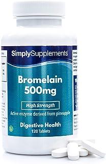 Bromelina 500mg - ¡Bote para 4 meses! - Apto para veganos- 120 Comprimidos - SimplySupplements