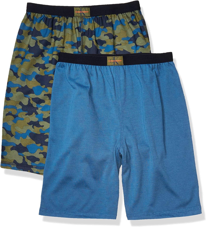 Calvin Klein Boys' Lounge Pajama Shorts, 2 Pack