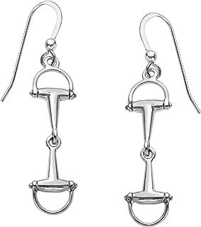 Horse Bit Drop Earrings in Sterling Silver
