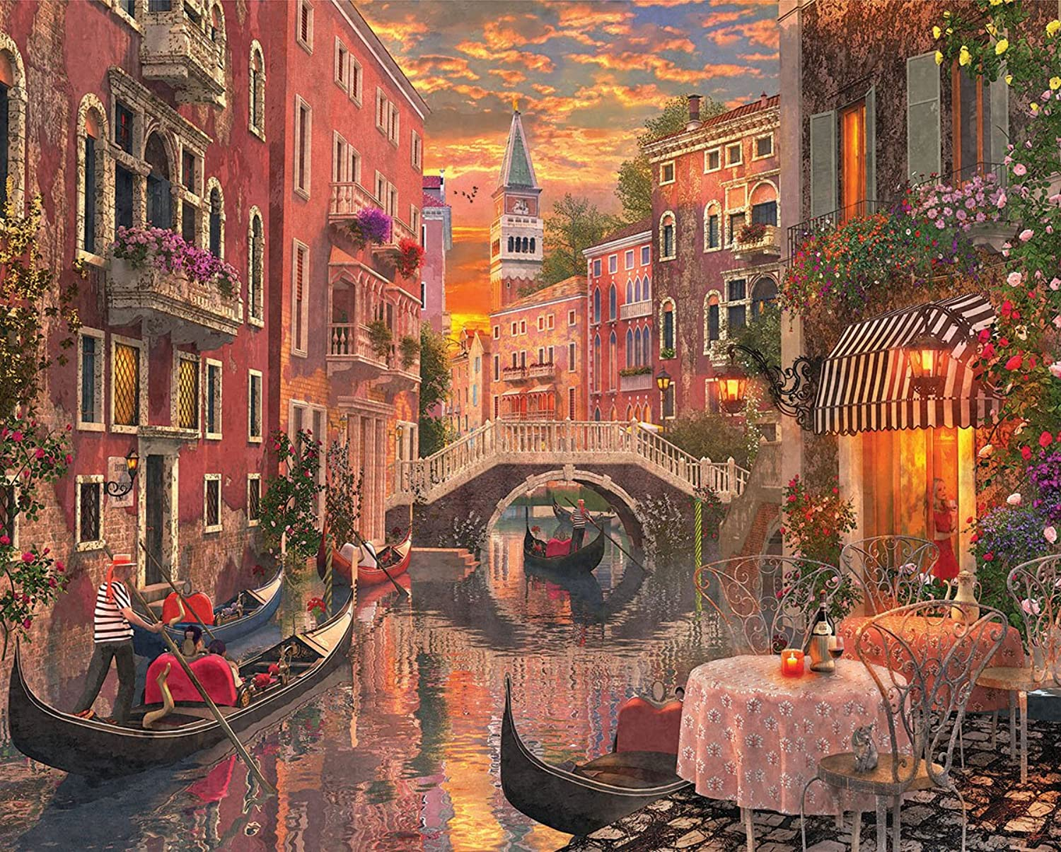 White Mountain Puzzles Venice Jigsaw Puzzle (1000 Pieces)