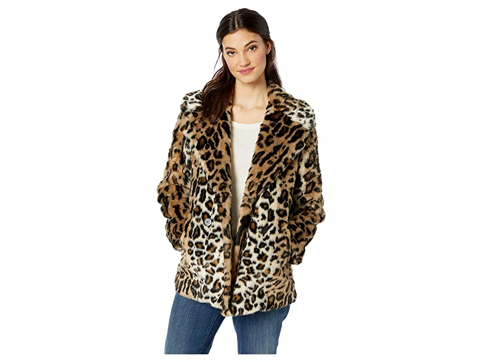 Sanctuary Seeing Spots Faux Fur Coat (Leopard) Women