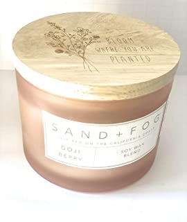 Sand + Fog Gogi Berry Double Wick Siy Blend Candle 12 Oz