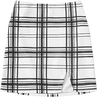 Women's Split Hem Short Mini Skirt