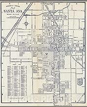 Historic Map - Thomas Bros. Map of Santa Ana, Orange Co, California, 1938 - Vintage Wall Art - 36in x 44in