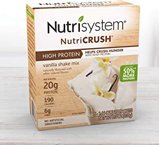 Nutrisystem® NutriCRUSH® Vanilla Shake Mix, 20 Count, Now with 50% More Protein