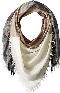 Chan Luu Womens 100% Wool Color Block Scarf