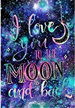 Monico 11.8X15.7in Gem Art Diamond Art Kits DIY 5D Diamond Painting by Number Kits, I Love You to The Moon and Back Full D...