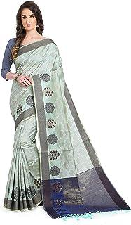 Women's viscose Jacquard Pure Organic cotton handloom silk saree with blouse(NUDE SHADES EDITION)