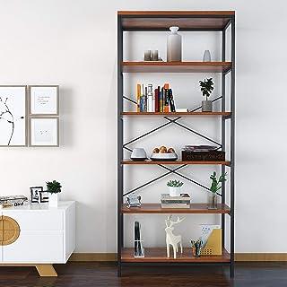 Himimi Estante para Libros Librería Estilo Industrial de 5 niveles estantería de almacenamiento para Salón Cocina Oficin...