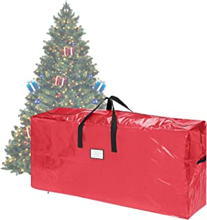 "Elf Stor 83-DT5511 Premium Red Christmas Bag Holiday Extra Tall for up to 9 Ft Tree (64.5"" x 30.5"" x 15""), 9 Foot"