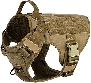 K9 Working Training Molle Vest, Lightweighting Tactical harnas met handvat, No-Pull voorste clip, Klittenband Panel voor D...