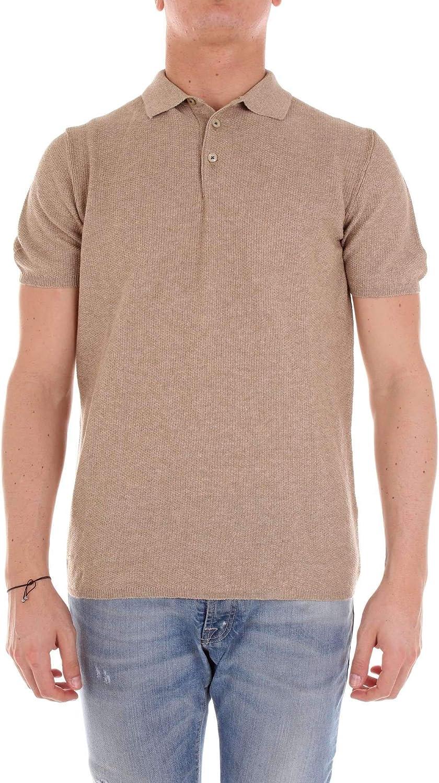 MC LAUREN EST. 1962 Men's GUNNYBROWNISH Brown Cotton Polo Shirt