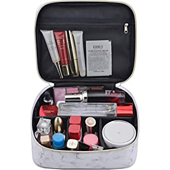 MKPCW Marble Makeup Bags Travel Cosmetic Cases Make up Organizer Toiletry Bags (Marble)