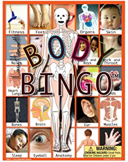 body parts bingo cards