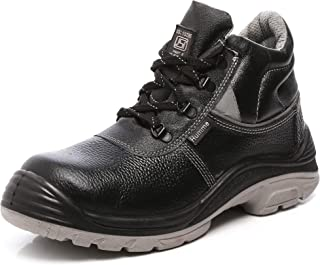 Agarson High Quality ISI Mark Genuine Leather Steel Toe Dual Density PU Moulded Engineers/Labours Safety Shoes; HUMMER ISI, Size-10