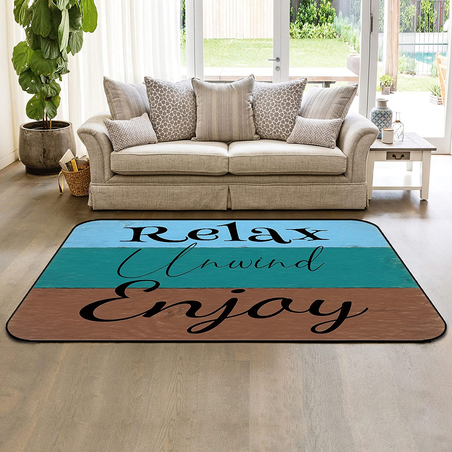 Indoor Anti-Slip Area Rugs for Bedroom Popular brand in the world S Room Relax Enjoy Living ! Super beauty product restock quality top!