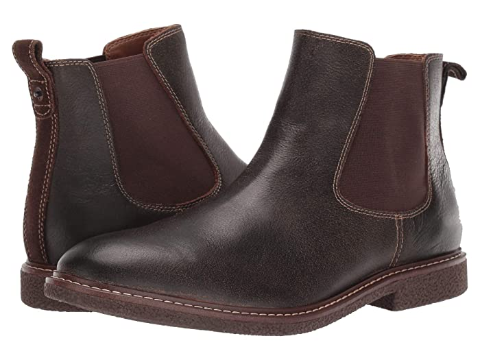 Lucky Brand  Brentwood (Dark Brown Bomber Jacket Leather) Mens Boots