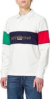 GANT Men's D1. Flag Crest Heavy Rugger Polo Shirt