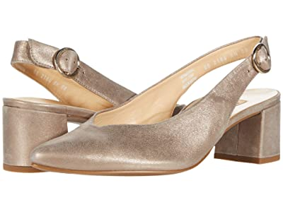 Paul Green Brittany Heel (Champagne Suede Metallic) Women