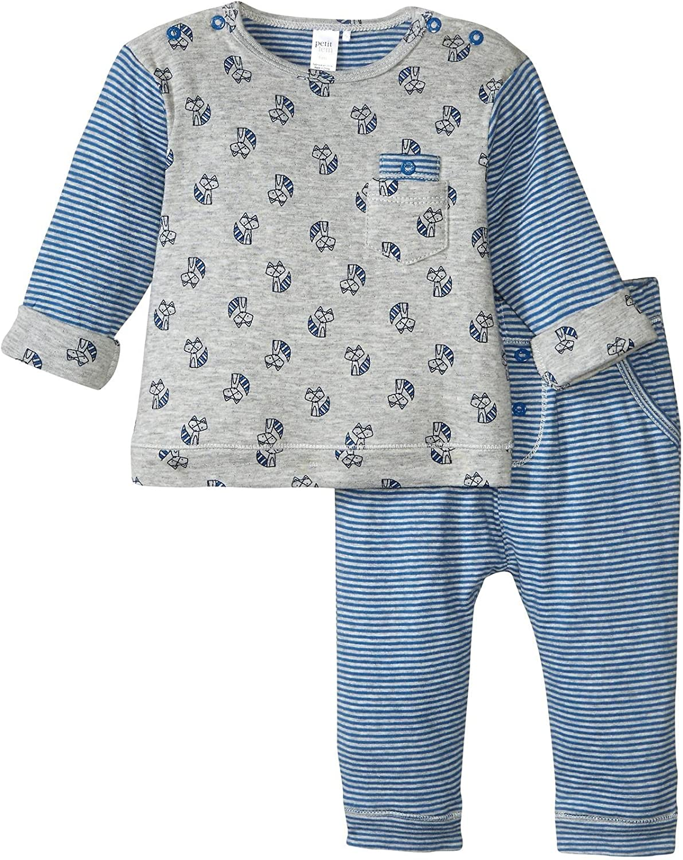 Petit Lem baby-boys Fox 2 Pieces Set T-shirt and Pants Knit