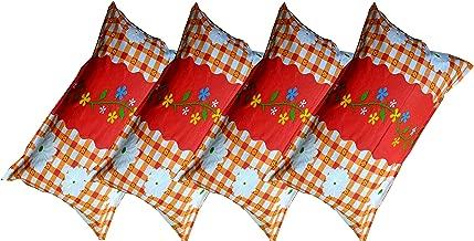 E by design O5PFN738RE9-16 16 x 16 Autumn Floral Print Red Outdoor Pillow